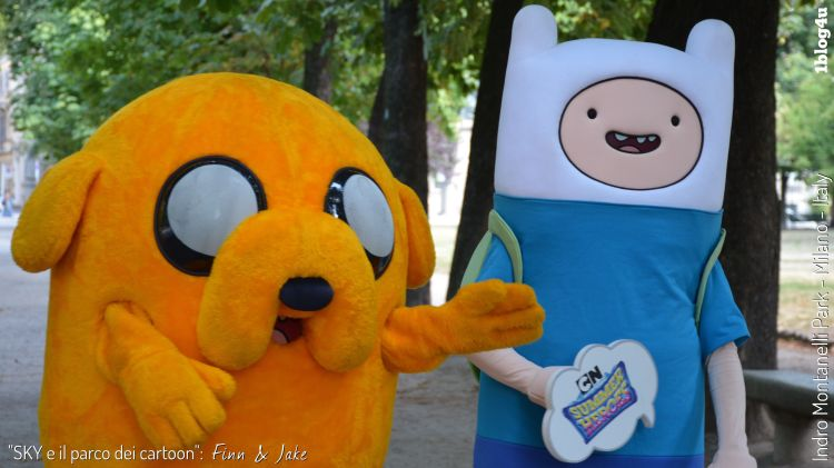 SKY e il parco dei cartoon - Finn and Jake - Indro Montanelli Park, Milan