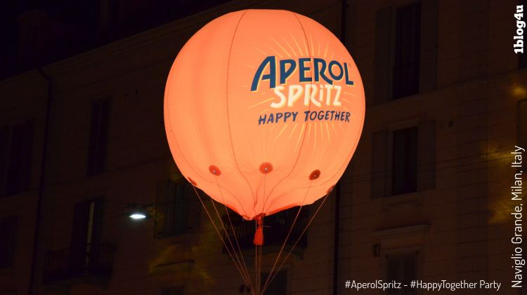 Aperol Spritz - Happy Together Party at Naviglio Grande in Milan, Italy
